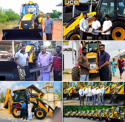 Handling over JCB machines to cutomers