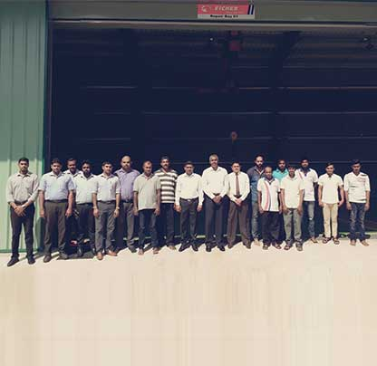 Newly opened Eicher Service/ Repair Facility at Henegama