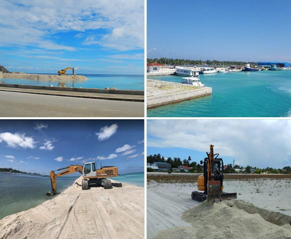 Construction of Three Adhoo harbours