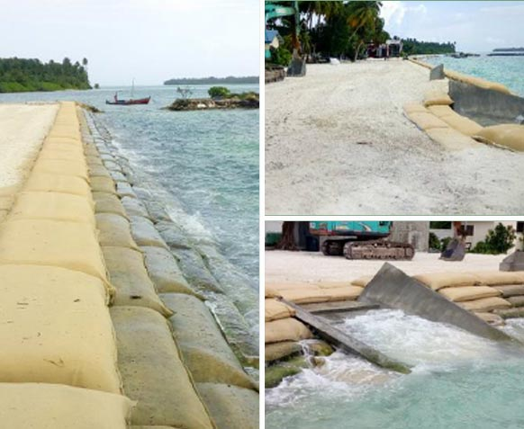 Coastal Protection Structures in Kandhoodhoo and Veymandhoo