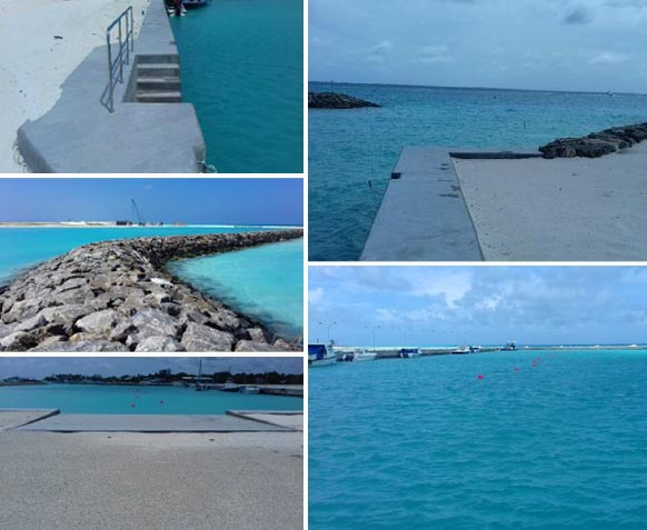 Thulusdhoo Harbour in the Maldives