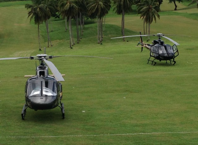A fleet of AIRBUS Helicopters